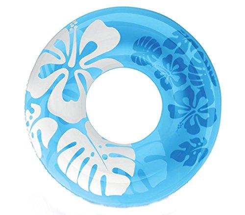 Schwimmring, 90cm, transparent, aufblasbar, Wasserspielzeug für Erwachsene blau