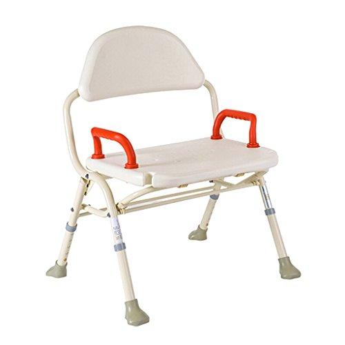 LXN Deluxe höhenverstellbare Aluminium Badewanne/Duschstuhl mit Rücken- und Duschkopf Halter-Anwendbar für ältere Menschen, schwangere Frauen, Behinderte