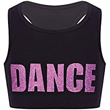 c1a0aab7f97c7 Alvivi Crop Top Niña Danza Jazz Moderna Chaleco Ropa de Baile Camiseta  Camisa Tank Top Corto