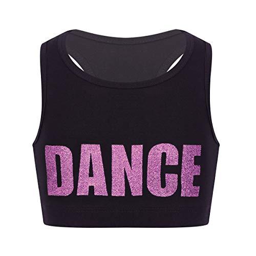 6ba0a7b42 ranrann Tank Top de Yoga Danza para Niñas Chaleco Corto de Bile Moderno  Estampado de Letra