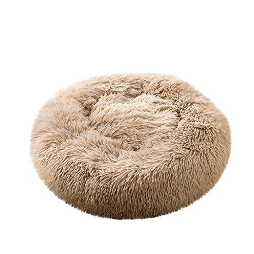 EUZeo Deluxe Haustierbett für Hunde und Katzen Mehrfarbig Hundebett Katzenbett Flauschige Rund Katzensofa Hundesofa -