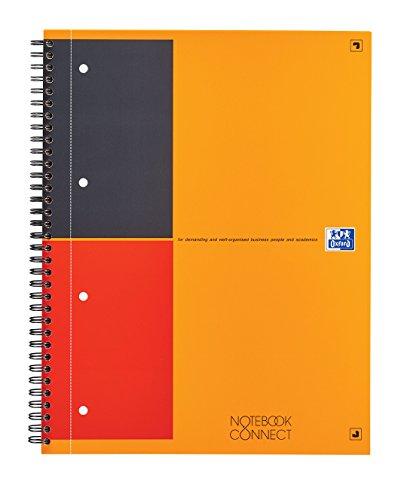 Preisvergleich Produktbild Oxford 400055726 International Notebook Connect Collegeblock A4+, liniert, 80 Blatt mit Mikroperforation und kostenloser App, orange