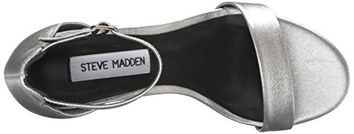 Steve Madden Irenee tacco del sandalo Argento