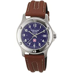 Swiss Alpine Military Men's Quartz Watch 1517.1535SAM with Leather Strap