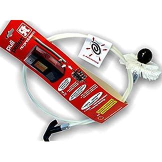 PYRO FEU 862472 Limpiador mecánico Pulipellet para tuberías de estufa 3 m, Blanco