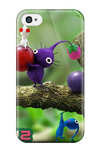 Excellent Iphone 4/4s Case Tpu Cover Back Skin Protector Pikmin