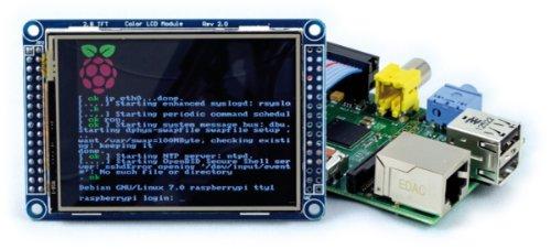 Raspberry Pi LCD-Touch-Display Bausatz NEU! Modell 2 Unterstützung - mit 16 GB Class 10 SanDisk Ultra SD Karte mit nötiger Software bereits vorinstalliert