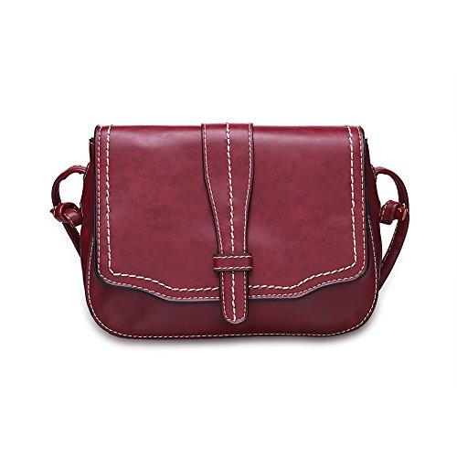 Baodan sur le sac à bandoulière mode thread (couleurs assorties)-brun rouge