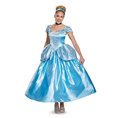 Cinderella Kostüm Prestige - Disguise Women's Prestige Cinderella Fancy Dress Costume X-Large