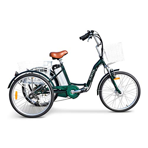 JORVIK TRICYCLES JORVIK 26 - Marco de Aluminio para Flexiones eléctricas Tricycle Trike 250 W/36 V, Verde