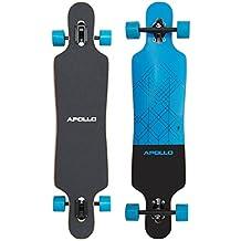 Apollo Longboard Kiribati Special Edition Tabla Completa con rodamiento de bolas High Speed ABEC incl. Skate T-Tool, Drop Through Freeride Skate Cruiser Boards