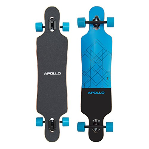 Apollo Longboard Kiribati Special Edition Komplettboard mit High Speed ABEC Kugellagern inkl. Skate T-Tool, Drop Through Freeride Skaten Cruiser Boards