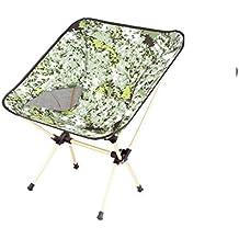 Silla de camping portátil ultraligera, ligera, compacta, transpirable, con patas antideslizantes para camping, viajes, picnic, festivales, senderismo con una bolsa de transporte (21 x 14 x 26 cm), verde