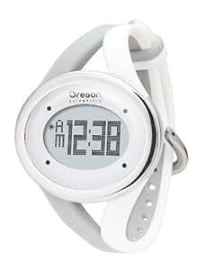 Oregon Scientific Damen Armbanduhr Herzfrequenzmesser Zone Trainer SE 338, silbergrau/weiß, 5560
