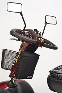 Simplantex Black Mobility Scooter Tiller Bag (1680d)