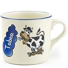 Kindergeschirr Set mit Namen 4-teilig Giraffe Tasse Teller Eierbecher Keramik