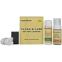 Piel Clean & Care Kit–Strong–Limpiador de cuero & Protector de pantalla para limpieza y protección de interiores, muebles de cuero Suite, sofá, sillas de coche, bolsos, chaquetas, y otros objetos de cuero contra desgaste Generales., detergente potente, normal