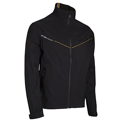 Wilson Regenanzug Jacke für Golfer, FG Tour Performance Top, Polyester, schwarz, Size: L, WGA700333 Top-performance-jacke