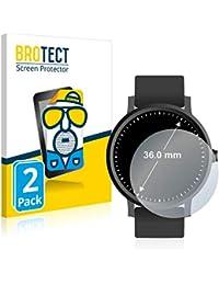 BROTECT Protector Pantalla Anti-Reflejos Compatible con Relojes (Circular, Diámetro: 36 mm) (2 Unidades) Pelicula Mate Anti-Huellas
