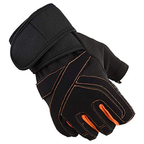 Alte Dame Reiten Kostüm - QIMANZI Fitness Handschuhe Vollfinger Fahrradhandschuhe mit Safe Geleinlage Palm für Road Race Mountainbike Reiten Rennrad Wandern Bergsteigen Damen Herren(C Weiß,XL)