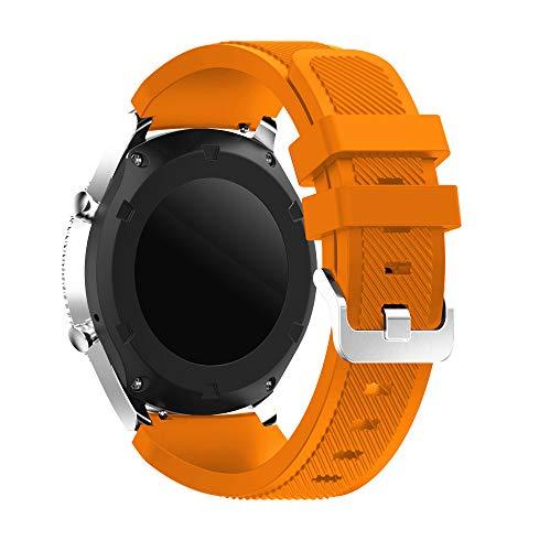 YaYuu Samsung Galaxy Watch 46mm/Gear S3 Frontier/Classic Armband, Ersatz Uhrenarmband Weiches Silikon Sportarmband für Gear S3 Frontier/S3 Classic/Moto 360 2nd Generation 46 mm Smart Watch
