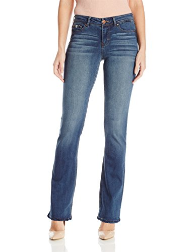 Jordache Legacy Damen Jeans Zoey Mid Rise Boot Cut - Blau - 44 Mid-rise Boot