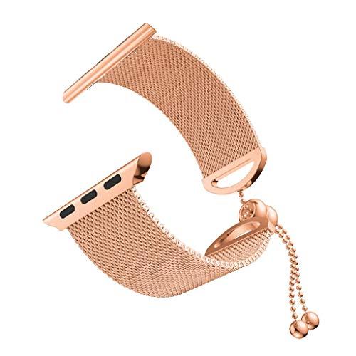 Battnot für Apple Watch Series 4 40mm/44mm Uhrenarmbänder Milanese Edelstahl Bracelet Uhrenarmband Handschlaufe Handgelenksriemen für Damen Herren Einstellbar Ersatzarmband Replacement Wriststraps