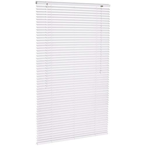 AmazonBasics - Jalousie, Aluminium, 80 x 130 cm, Weiß