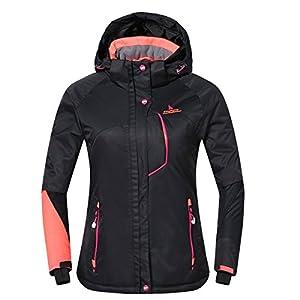 phibee women's waterproof outdoor snowboard breathable ski jacket