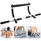 Sasimo Home Gym Pull up Bars for Home | Push up bar | sit ups Equipment | dips Stands with Top Pulley Solid Fitness Gym Accessories (Color- Black)