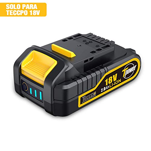 TECCPO Professional Batería 18V Recargable Ion Litio