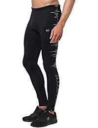 Ultrasport Men's Ultra Visible Running Pants Heartbeat, Secure and Comfortable with reflective all-over Prints