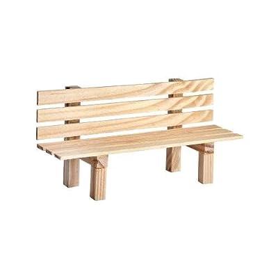 Kimmerle Miniatur Gartenbank aus Holz 9x3x4,5cm Dekoration Modelbau Landschaft Puppen natur Bank von Kimmerle bei Gartenmöbel von Du und Dein Garten