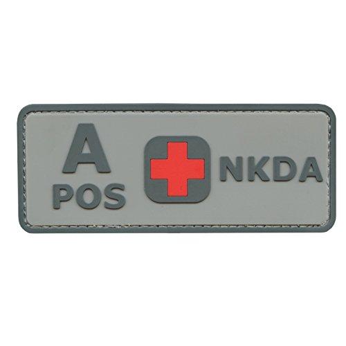 ACU Gray A POS Blutgruppen NKDA Combat Taktisch Tactical PVC Gummi 3D Velcro Aufnäher Patch
