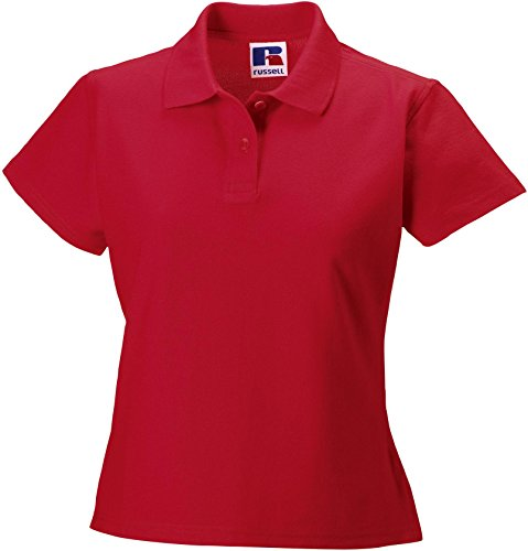 Russell Collection - Polo -  - Manches courtes Femme Rouge - Red - Classic Red