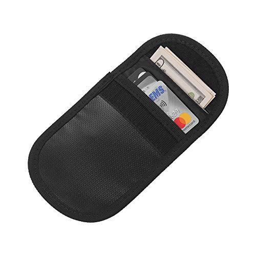 Aibecy Feuerfeste Tasche Sichere Aufbewahrung Kleine Größe Feuerfester Geldbeutel Wertsachen Halter Anzug für ID-Kartenschlüssel Pass Rechnungen Quittungen Bargeld Home Office Organizer Supplies