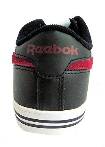 Reebok Royal Complete Low, Baskets mode homme Black/Burgundy/White/Rbk Royal