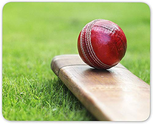 N/A Awesome Cricket Mouse Mat Pad - Sports Bat Red Ball Dad Gift PC Computer #8267