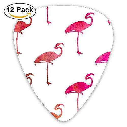 Cool Flamingo Bird Animal Celluloid Guitar Picks 12 Packs - Cool Flamingos
