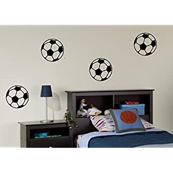 4 X Footballs   Wall Art Decal Sticker Boyu0027s Bedroom Hall Living Room FREE  Pu0026P Part 82