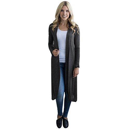 Kurzarm-kaftan (Vovotrade Reinheit Langarm Maxi Strickjacke Open Floaty Kaftan Jacke Mantel Outwear Bluse Für Frauen (Size:XL, Grau))