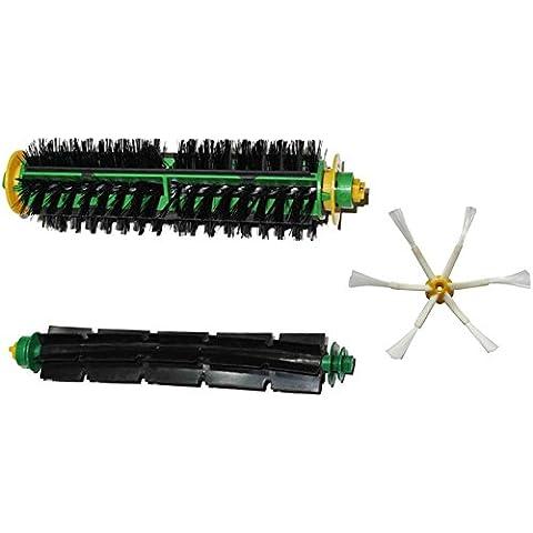 IRobot Setola Spazzola et flessibile Beater Brush et spazzola laterale 6 a braccio singolo per iRobot Roomba Serie 500 530 535 540 510 550 560 570 580 610 Robot Vacuum
