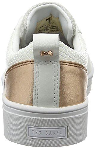 Ted Baker Kulei, Sneakers Basses Femme Blanc (White/Rose Gold)