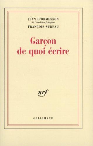 Garcon, de quoi écrire
