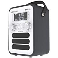 Blackfriars Retro DAB/DAB+ Digital FM Portable Radio/Alarm Clock/Real Wood Effect Finish/Mains Powered/Rechargable… 1