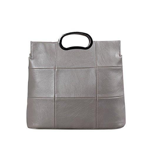 Borsa A Tracolla Tote Bag Da Donna Moda Retro Elegante Borsa Grande Capacità Borsa Da Donna In Pelle PU Borsa A Mano Donna Borsa Grande Gray