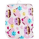 Carter Baby Fleece Double Layer Blanket (76 X 100 Cm) (Pink- Heart JoJo)