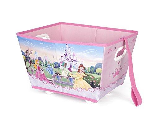 Delta Kids - Carrito para juguetes plegable con cinta para empujar y 4 ruedas (30,5 x 38,1 x 22,9 cm) PRINCESS