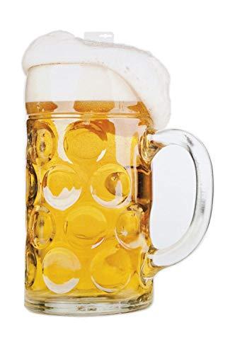 Boland 54255 Bierglas 75 x 50 cm auf Pappe, - Bier Motto Kostüm