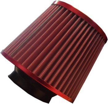 Universal Red Finish Car Air Filter Induction Kit - High Power Sports Mesh Cone